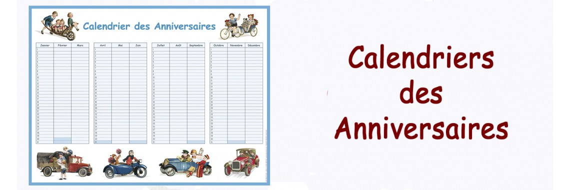 Calendars of birthday