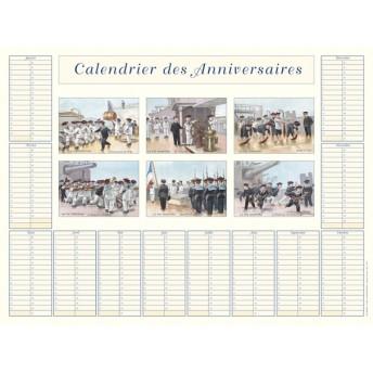 Calendrier des anniversaires les marins