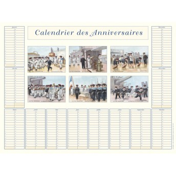 Calendar of birthday the sailors
