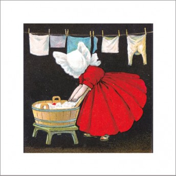Postcard square laundry