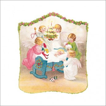 Postcard square birth