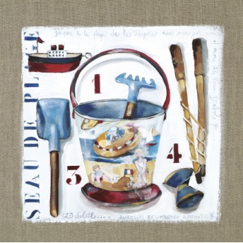 ¨Postcard square beach bucket