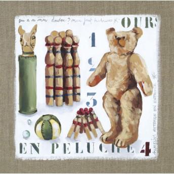 Postcard square teddy bear
