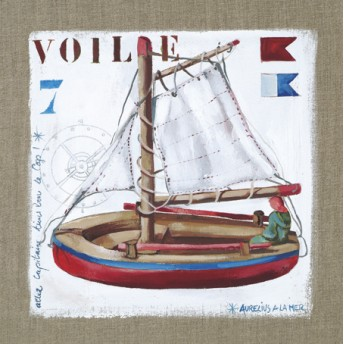 Postcard square sail