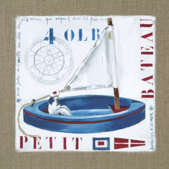 Postcard square little boat