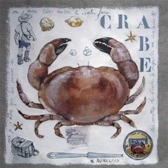 Postcard square the crab