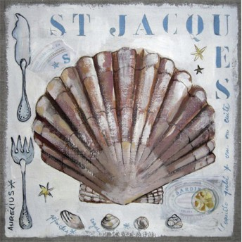 Postcard square  St Jacques scallop