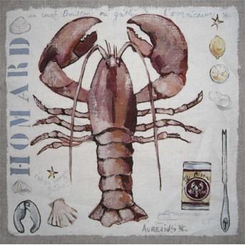 Postcard square lobster