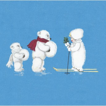 Postcard square polar bear