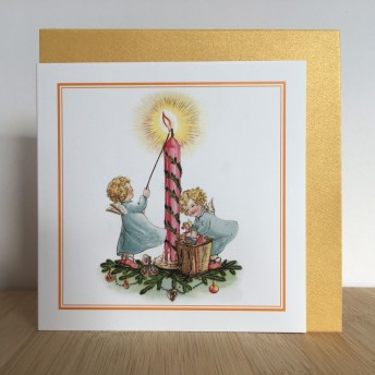 Double greeting card: candle
