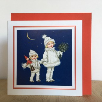 Double greeting card: the night