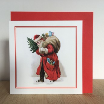 Double greeting card: Santa Claus