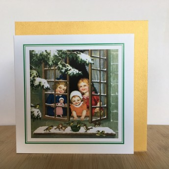 Double greeting card: window