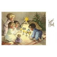 Postcard crib and yellow star