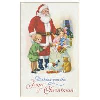 Postcard Santa Claus toys