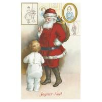 Postcard Santa Claus baby