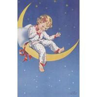 Postcard moon