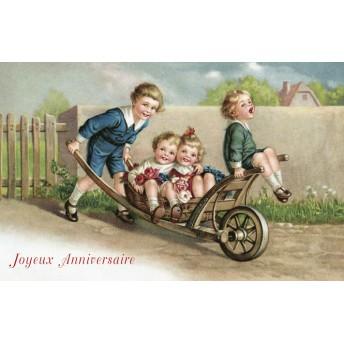 Postcard the wheelbarrow
