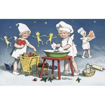 Postcard little bakers