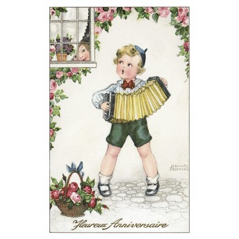 Postcard accordion