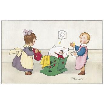 Postcard green cradle