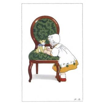 Postcard green chair