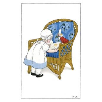 Postcard blue chair