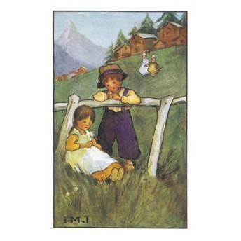 Carte postale alpage