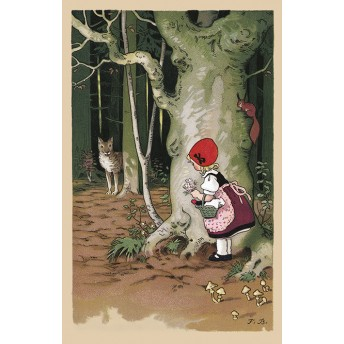 Postcard Red Riding Hood