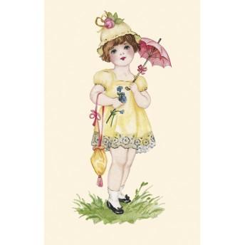 Postcard pink umbrella