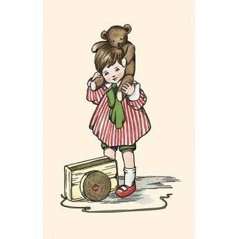 Postcard brown bear