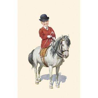 Postcard horsewoman