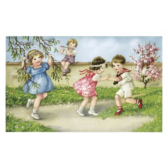 Postcard the spring