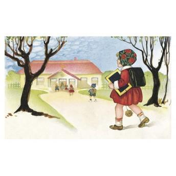 Postcard schoolgirl