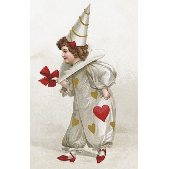 Postcard ace of heart