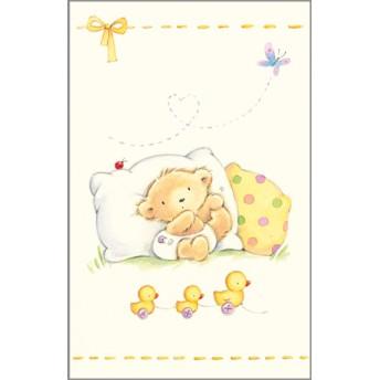 Postcard bear duck