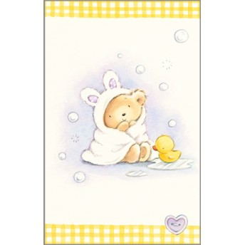 Postcard bear bath towel