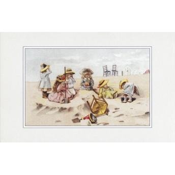 Postcard sandcastle