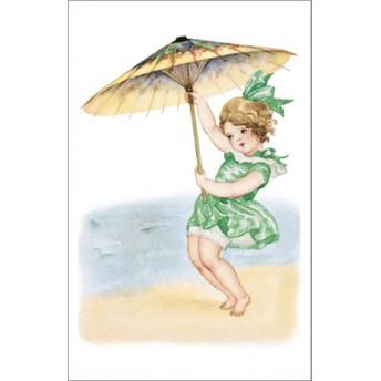 Postcard beach green dress