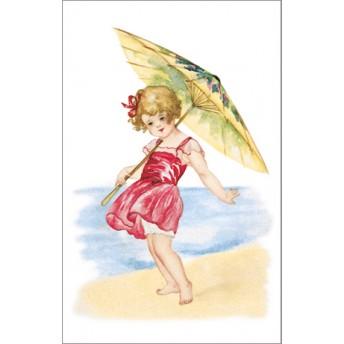 Postcard beach red dress