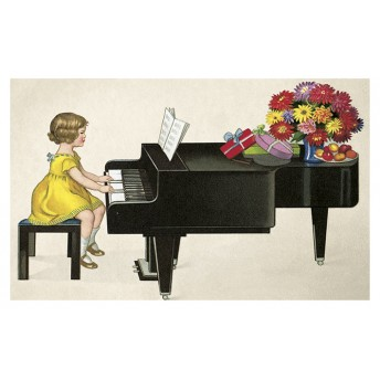 Postcard pianist