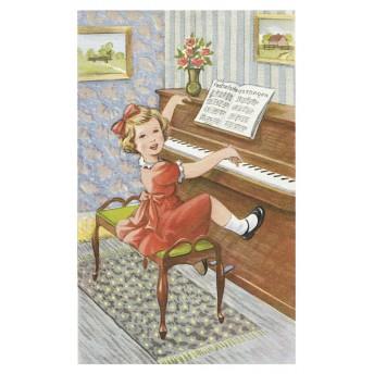 Postcard piano