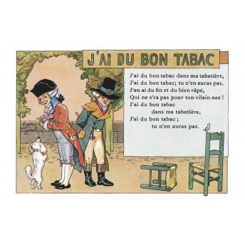 "Postcard Children's songs: ""J'ai du bon tabac"""