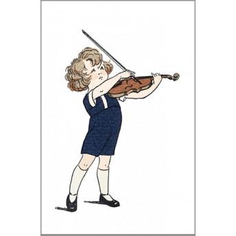 Postcard violin