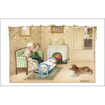 Postcard blue cradle