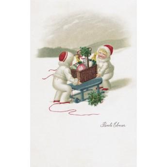 Postcard festive basket