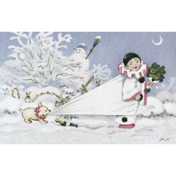 "Postcard ""Pierrot"""