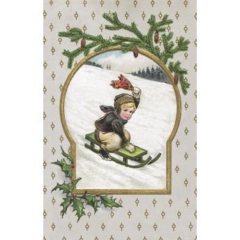 Postcard sledge