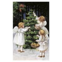 Carte postale sapin de Noël