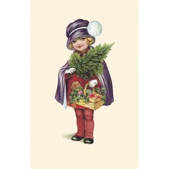 Postcard basket and christmas tree